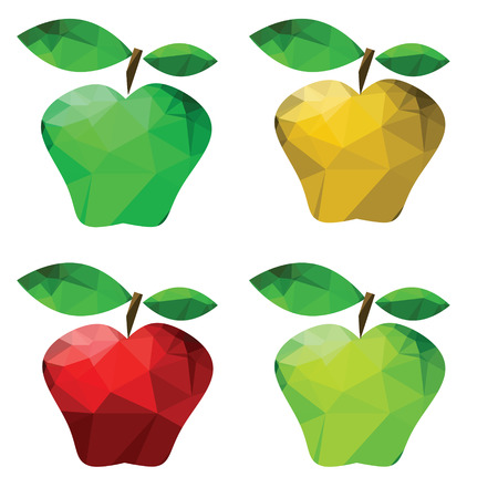 colorful illustration  with abstract apples on white background illustration