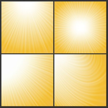 illustration  with abstract sun wave backgrounds illustration