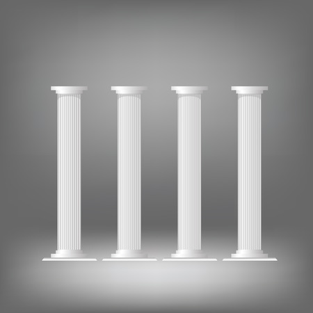greek columns: illustration  with greek columns on dark background