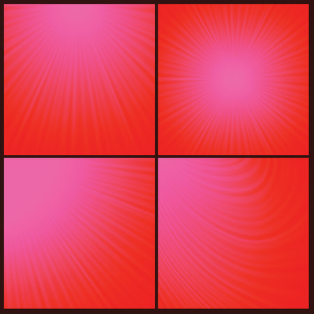 emanation: Illustration  with abstract red rays  background. Graphic Design Useful For Your Design. Sun wave light background texture design on border.