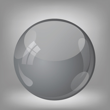 chrome base: Illustration  with grey sphere. Graphic Design Useful For Your Design.  glossy sphere