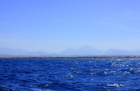 Sea Blue Water Background at Sun Light. photo