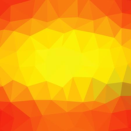 jaune rouge: R�sum� Contexte polygonal compose de rouge, jaune, orange Triangles.