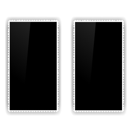 Two Old Photo Frames Isolated on White Background.