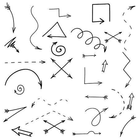 Set of Arrows Isolated on White Background. Illustration