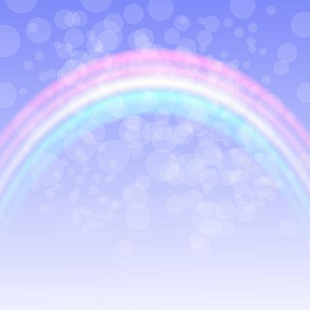 rainbow: Rainbow on Spring Sky. Natural background with rainbow.