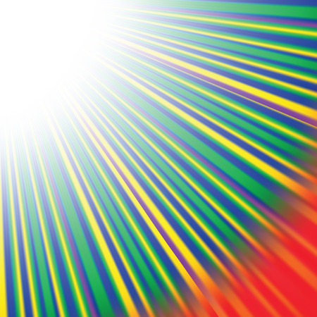 diverging: Abstract Wave Background with Red,  Yellow, Green Rays. Rays diverging in different directions.