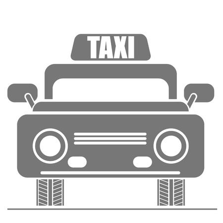 Taxi Car Icon. Public transport Sign Isolated on White Background. photo