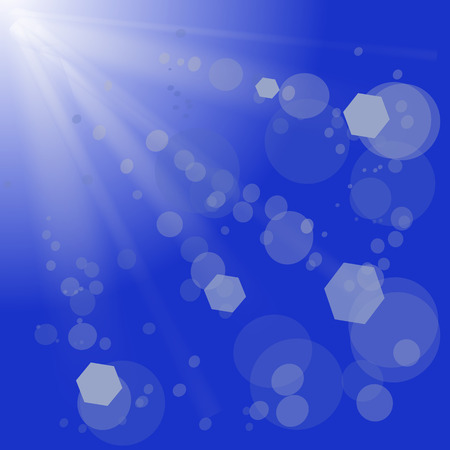 bl: Abstract Blue Background with Sun Rays. Sun Burst. Stock Photo