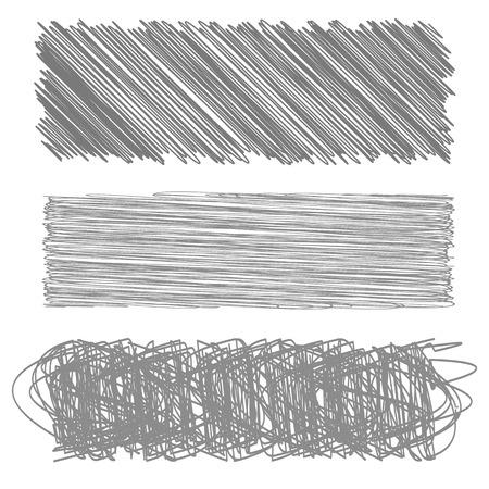 careless: Grey Diagonal Strokes Drawn Background. Grey Careless Sketch.