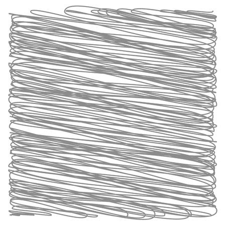 부주의 한: 회색은 흰색 배경에 고립 스트로크. 회색 부주의 스케치. 일러스트