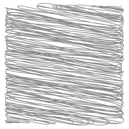 careless: Grey Strokes Isolated on White Background. Grey Careless Sketch.