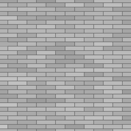 Grey Brick Wall. Brick Texture. Grey Brick Background Illustration