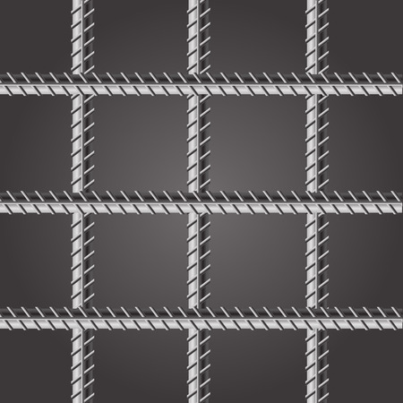 lockup: Prison Bars. Jail Bars on Dark Background.