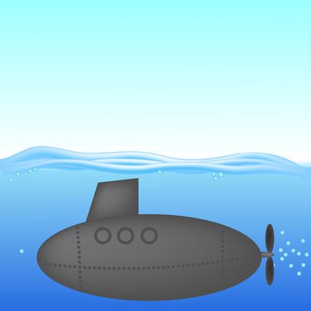 under water: Submarine under Water
