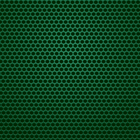 perforated: Green Perforated Metal Texture. Green Perforated Background. Illustration