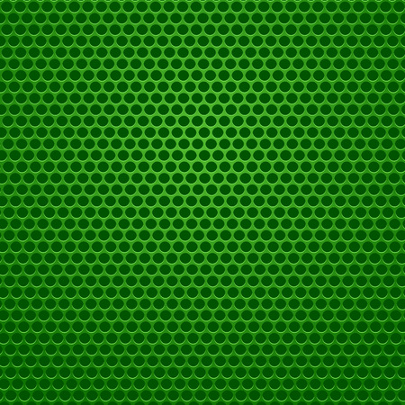 Perforated Metal Green Background Vector