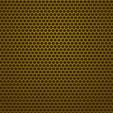 Perforated Pattern. Iron with Circle Holes.