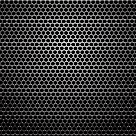 perforated: Dark Metal Perforated Texture. Iron Circle Pattern.