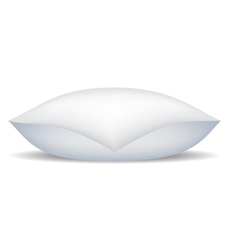 White Soft Pillow Isolated on White Background.