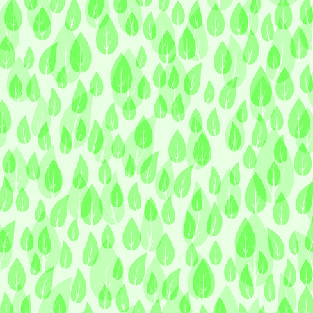 Green Leaves Pattern Isolated on White Background.