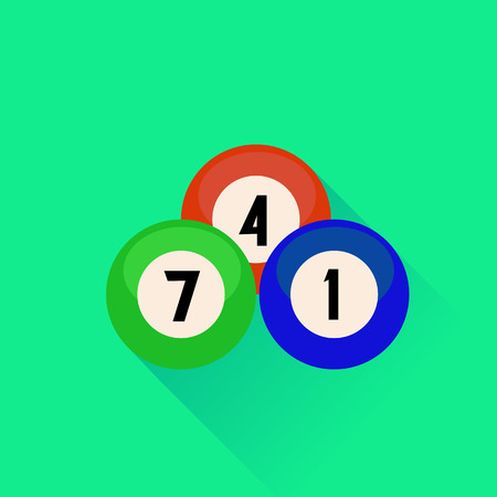 pool hall: Billiard Balls Icon Isolated on Green Background.