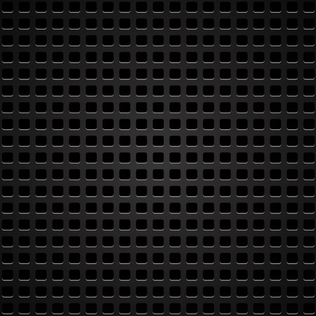 perforated: Dark Iron Perforated Background. Abstract Perforated Pattern.