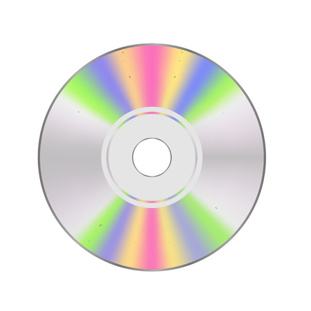 gold record: CD disc Isolated on White Background for Your Design.