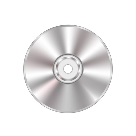 Grey Compact Disc Isolated on White Background.