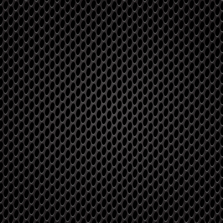 perforated: Dark Iron Perforated Texture. Metal Perforated Grid.