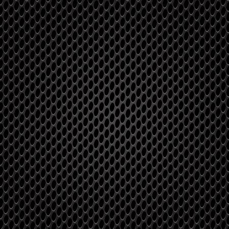 perforated: Dark Iron Perforated Texture. Metal Perforated Grid.