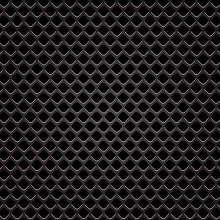 perforated: Metallic Perforated Background. Dark Steel Perforated Texture.
