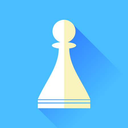 solder: Chess Pawn Icon Isolated on Blue Background Illustration