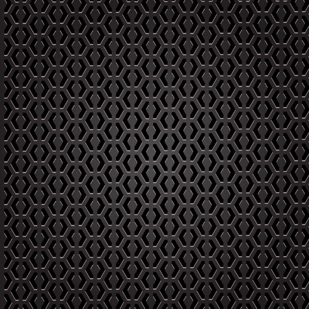 perforated: Dark Iron Perforated Background. Metal Perforated Texture.