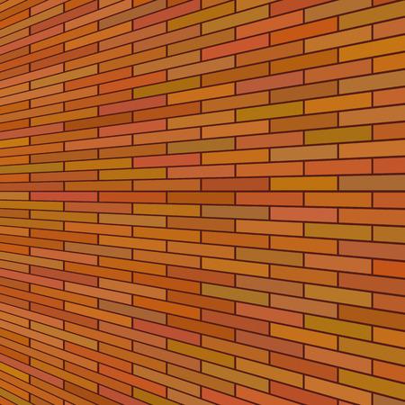 brick background: Vecchio Muro di mattoni rossi. Sfondo rosso mattone. Vettoriali