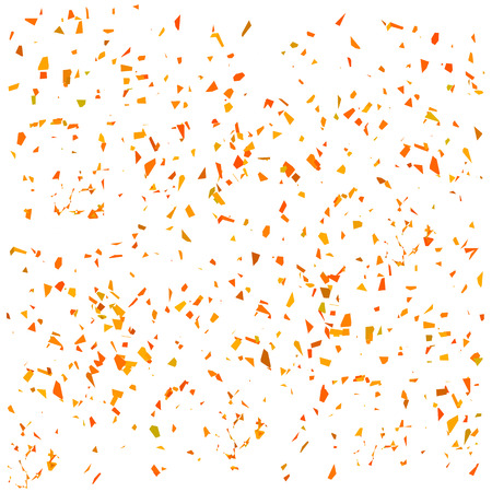 Orange Confetti Isolated on White Background