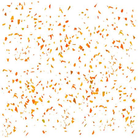 Orange Confetti Isolated on White Background