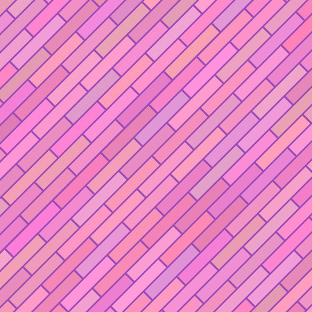 stonework: Pink Diagonal Texture. Abstract Pink Brick Background. Illustration