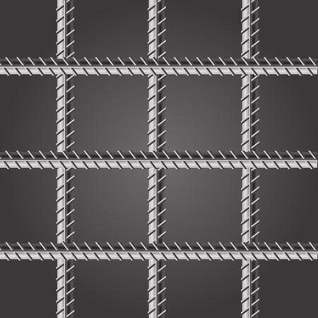 carcel: Bares prisión. Barras de la cárcel en fondo oscuro. Foto de archivo