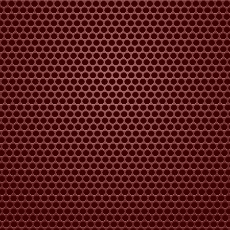 perforated: Red Iron Perforated Texture. Metal Perforated Texture.