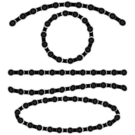 robust: Chain Frames Set Isolated on White Background Illustration