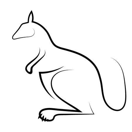 kangaroo white: Kangaroo Icon Isolated on White Background