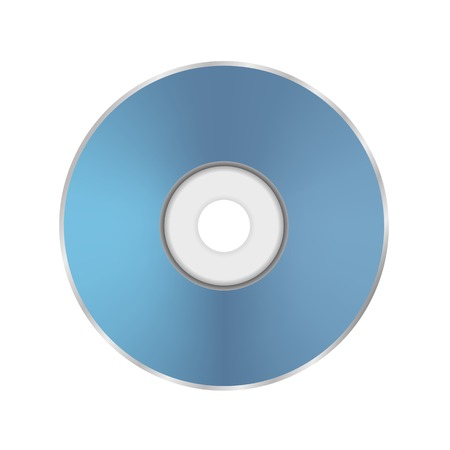 cd r: Blue Compact Disc Isolated on White Background Stock Photo