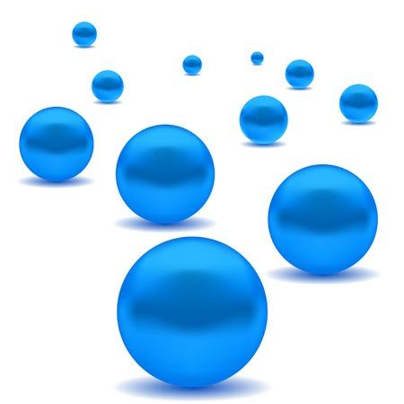 elegance: Blue Elegance Pearls Isolated on White Background
