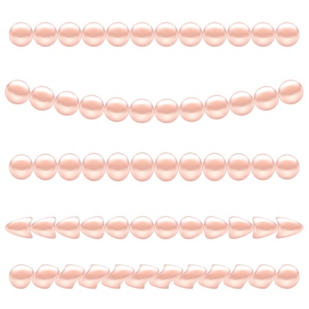 pink pearl: Pink Pearl Necklace Isolated on White Background.