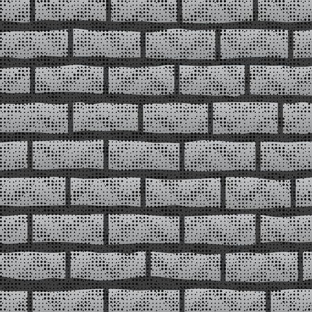 rubble: Grunge Grey Wall.  Abstract Grey Brick Pattern. Illustration