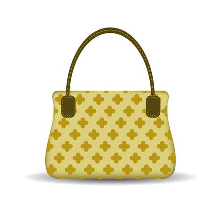 capacious: Single Womens Handbag Isolated on White Background.
