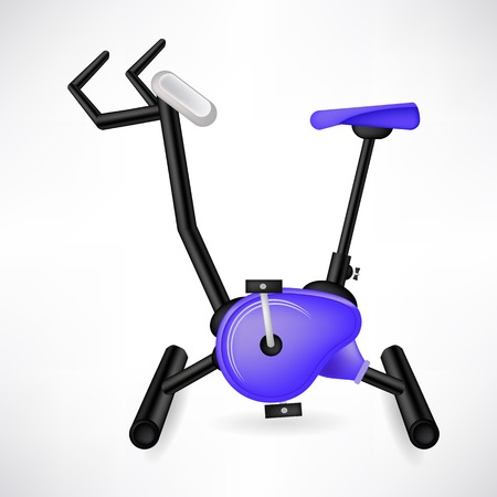 Exercise Bike for Cycling Isolated on White Background photo