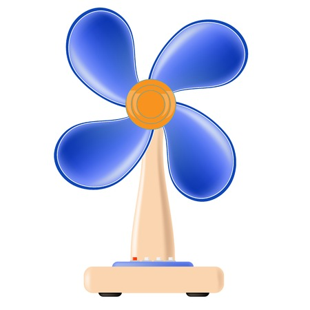 airflow: Fan Icon Isolated on White Background. Electric Fan.