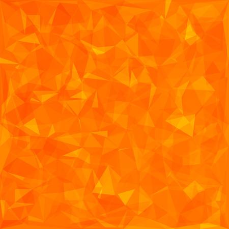 Résumé fond orange polygonal. Motif abstrait géométrique orange Vecteurs